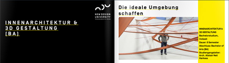 Studieninhalte innenarchitektur 3d gestaltung ndu for Innenarchitektur studieninhalte