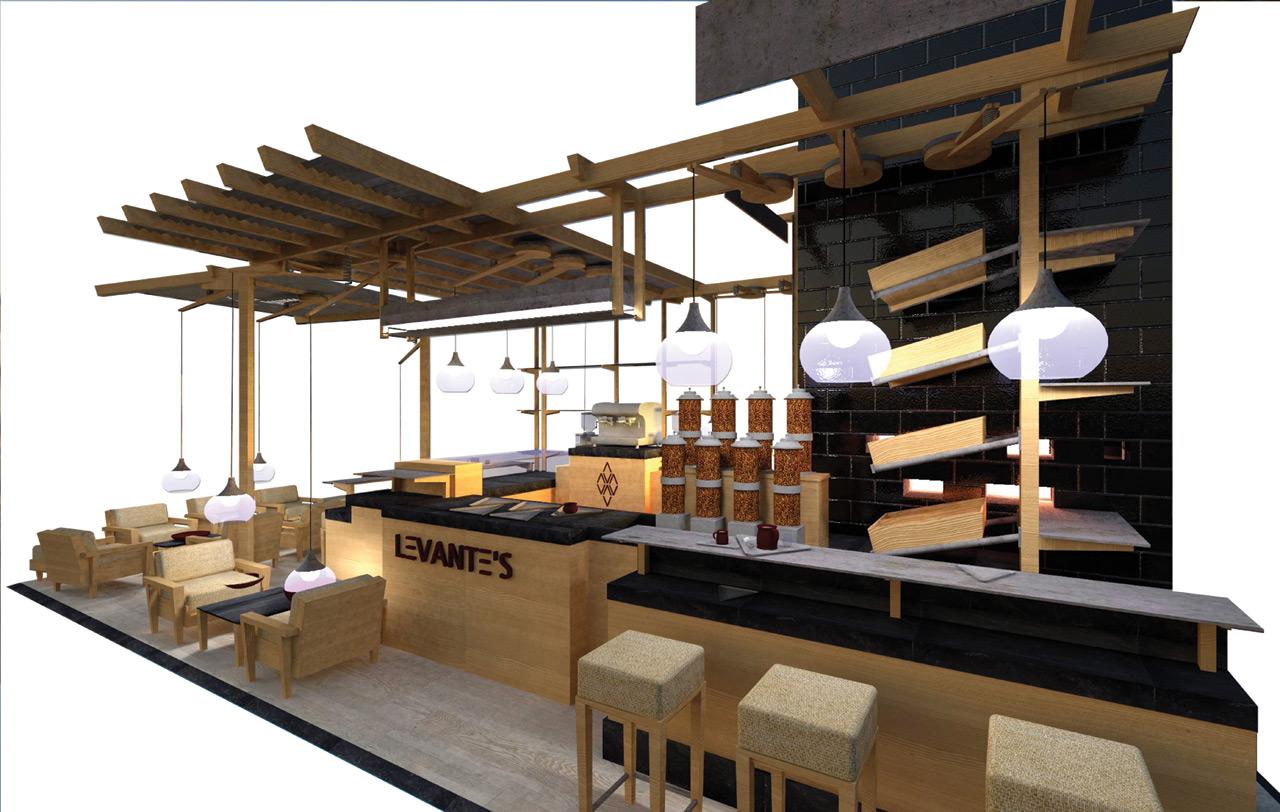 levante's coffee & bakery shop: output ^3 - ndu, Innenarchitektur ideen
