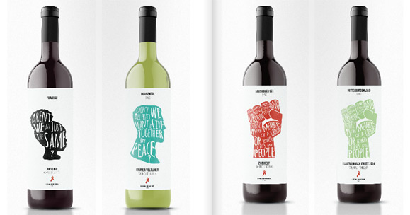 Future Lab   BA Graphic   Information Design Labels for the Life Ball Wine  2016. New Design University   NDU
